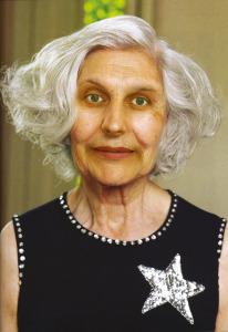 grijze vrouw